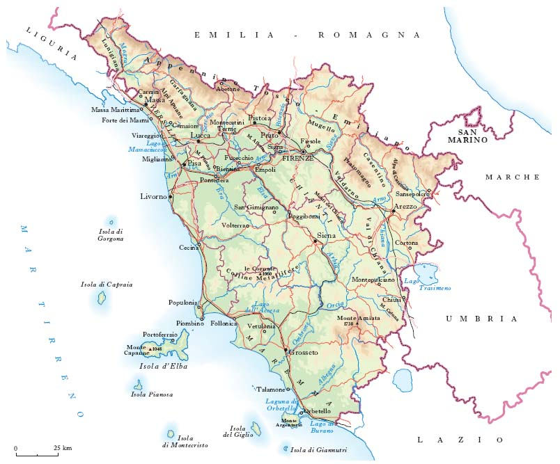 Fiumi Toscana Cartina.Monitoraggio Idrometri Toscana Rete Meteo Amatori