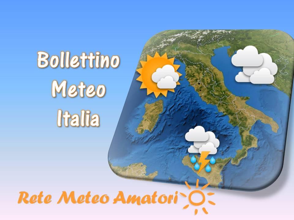 Meteo Italia - Bollettino elaborato quotidianamente da Rete Meteo Amatori su una media delle principali fonti, di servizi meteorologici professionali