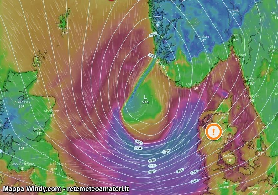 Tempesta di Vento sulla Danimarca – 21 Settembre