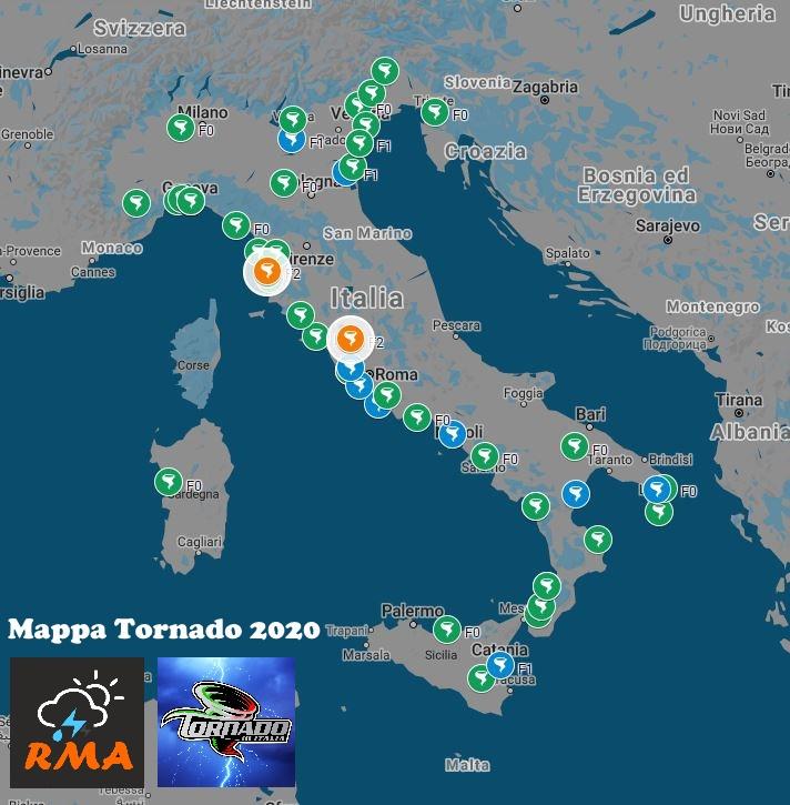 Mappa Tornado 2020 - Riproduzione Riservata ©