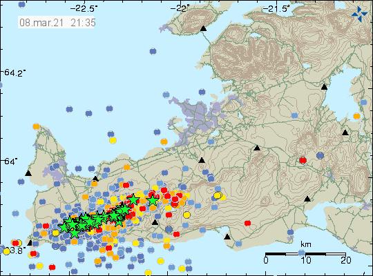 Islanda molti movimenti nel sottosuolo