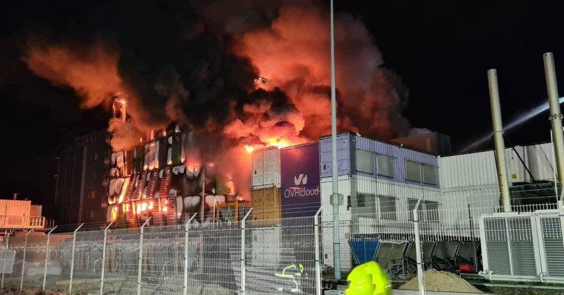Incendio nel datacenter di OVH Cloud - Autore Sconosciuto