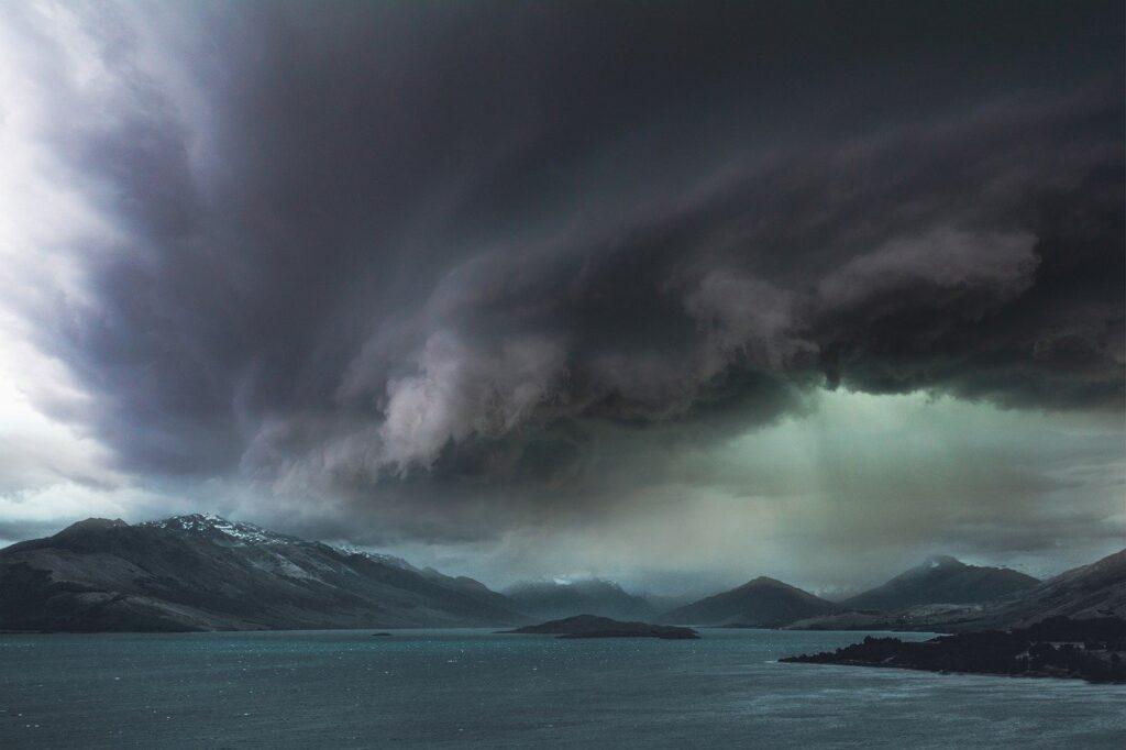 landscape, storm, sky