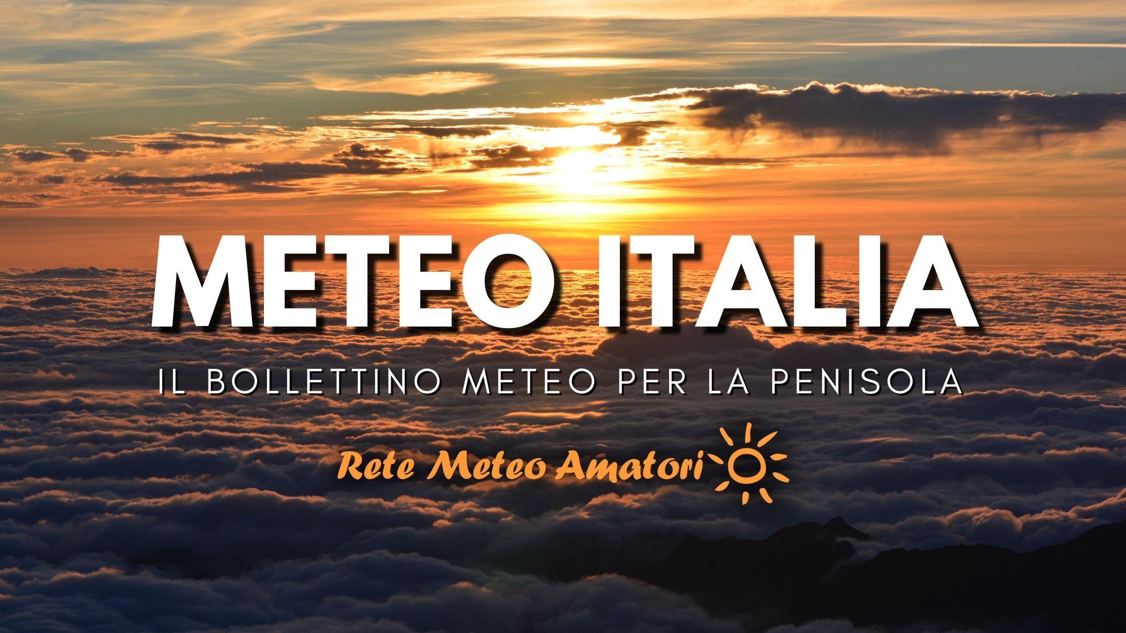 Meteo Italia alta pressione tempo soleggiato e mite