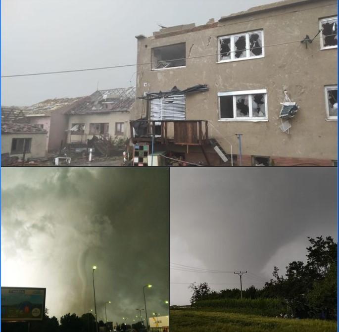 Tornado devasta la regione di Hodonin Repubblica Ceca