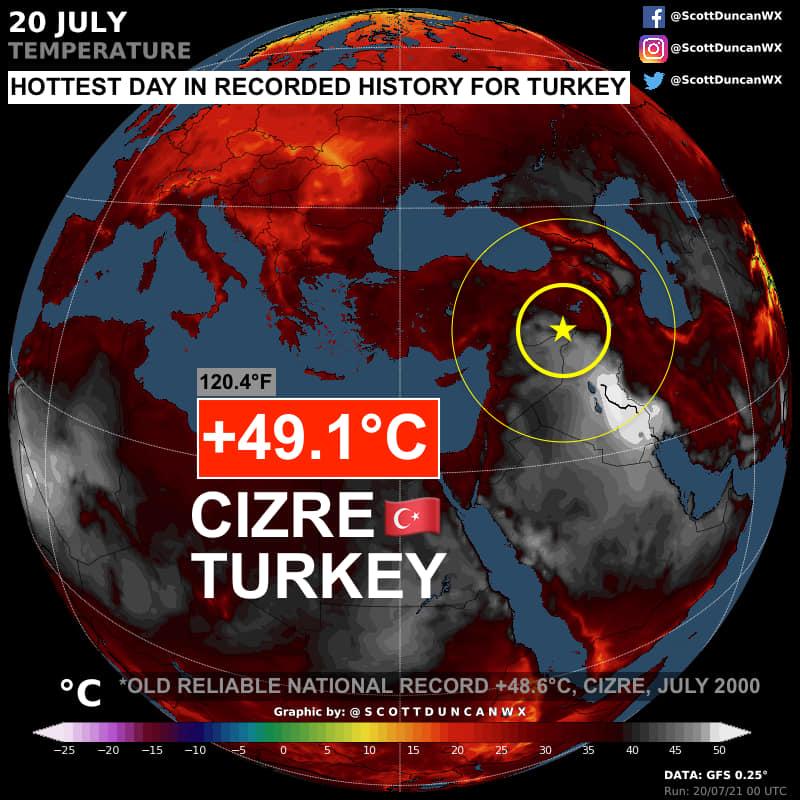 Turchia Temperatura Record - 20 Luglio 2021