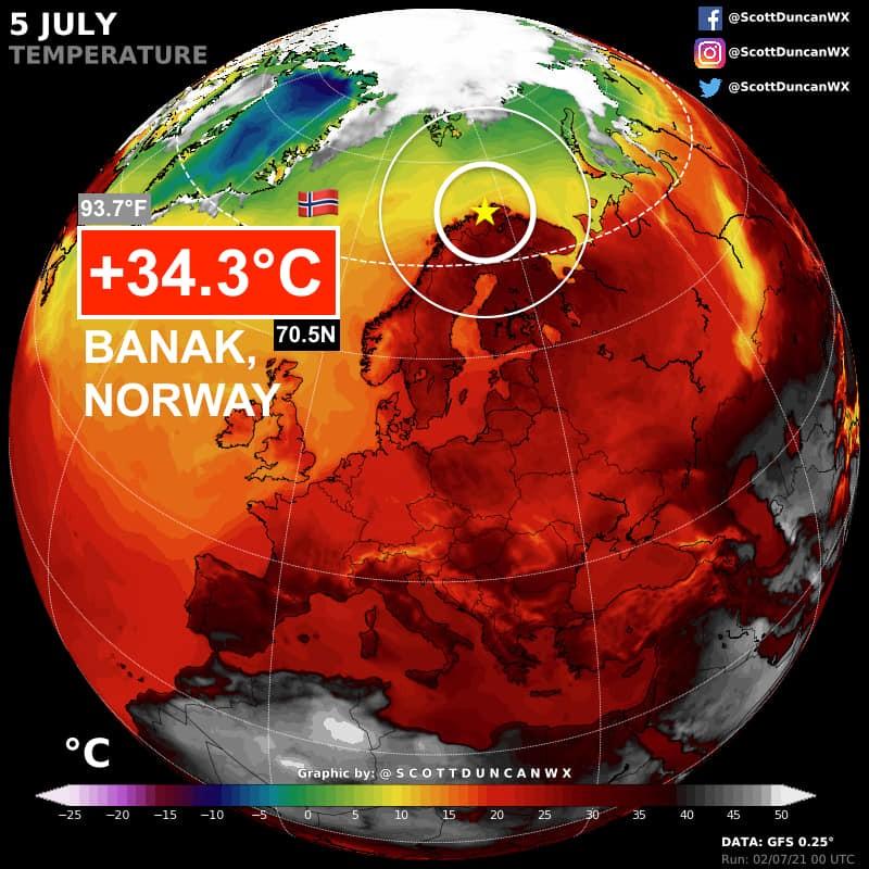 Caldo Record in Scandinavia e Inondazioni sul Mare Nero