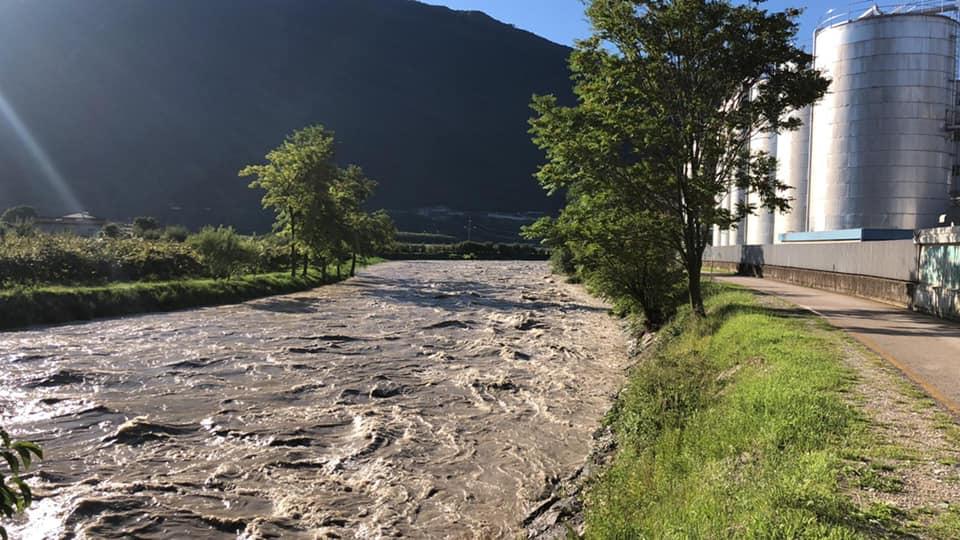 Trentino Fiume Sarca in Piena - 5 Agosto 2021