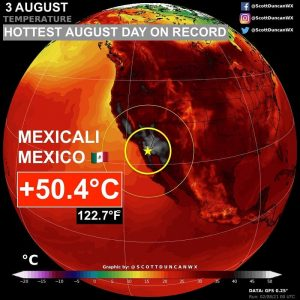 Caldo Record Messico 3 Agosto 2021