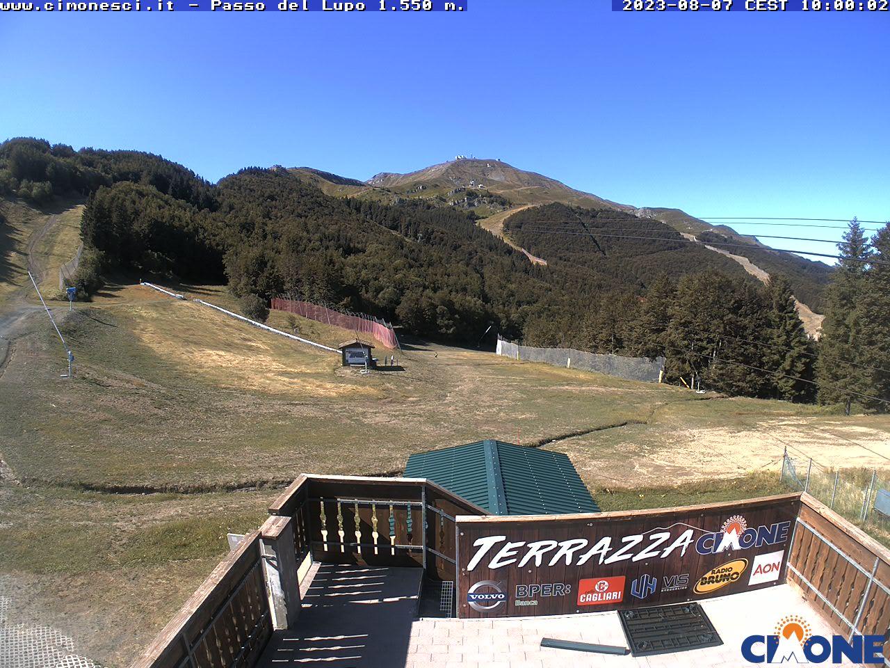 Webcam Cimone Passo del Lupo 1550m - Immagini di Cimonesci