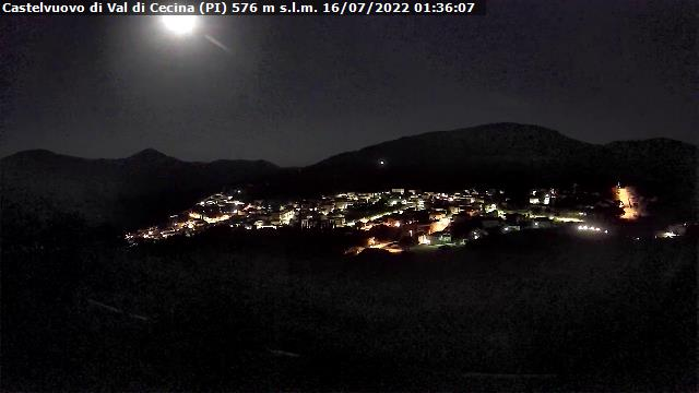 Vista sulla centrale geotermica di Castelnuovo di Val di Cecina - A cura di Mario Vignali